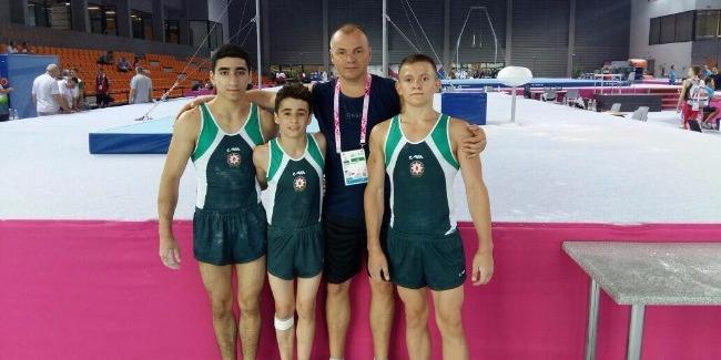 Азербайджанские гимнасты на Европейском Юношеском Олимпийском Фестивале