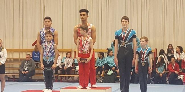 """Akrobatlarımız yeni mövsümün akrobatika gimnastikası üzrə ilk turnirindən """"qızıl""""la qayıdırlar"""