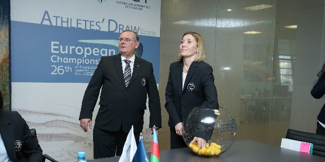 Starting order of participants of Trampoline Gymnastics European Championships is known