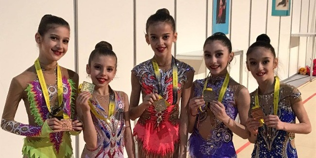 Our junior gymnasts returned home with medals