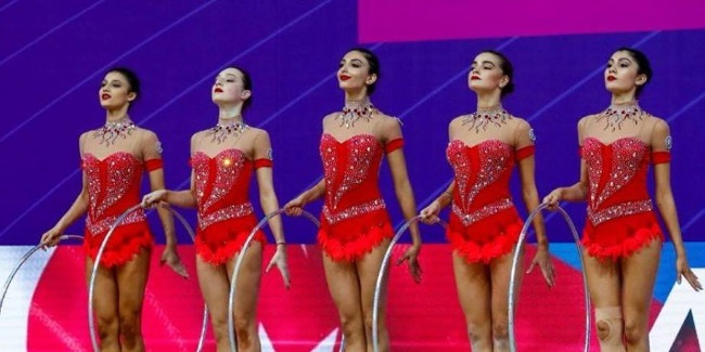 Our rhythmic gymnasts in the final of the World Cup