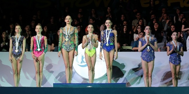 Our rhythmic gymnasts took the 3rd place in the team competition