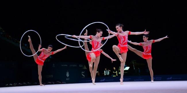 Azərbaycan gimnastları 5 halqa ilə çıxışların finalında Dünya Kubokunun bürünc medalını qazandılar