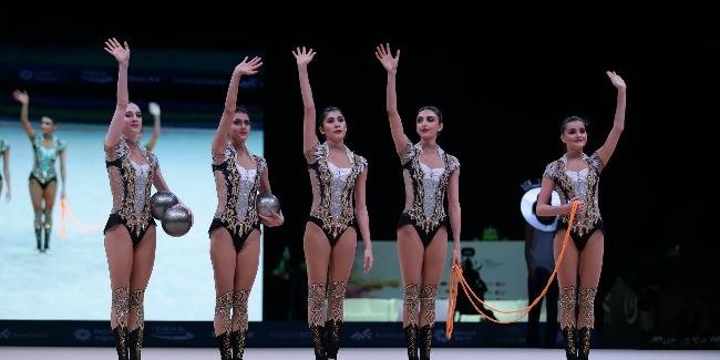 Bədii gimnastlarımız üçün növbəti Dünya Kuboku və daha bir bürünc medal