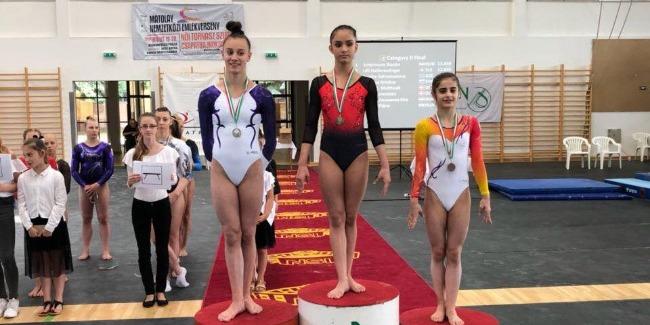 Gənc gimnastımız Macarıstanda bürünc medal qazandı