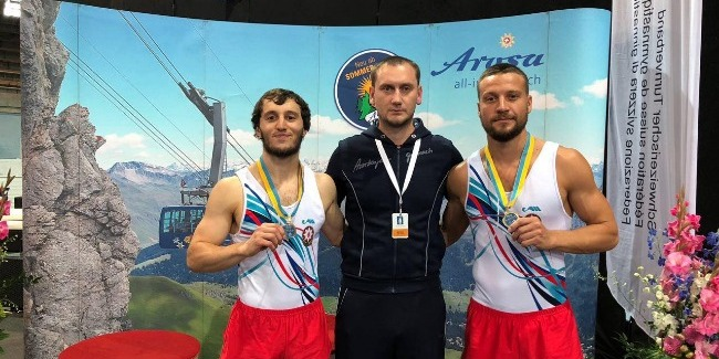 """""""Gold"""" from our representatives in Trampoline Gymnastics and """"Bronze"""" from Women's Artistic Gymnastics"""
