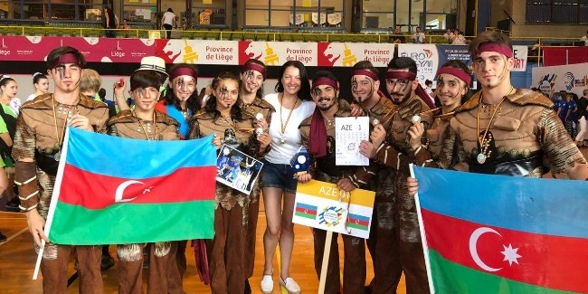 Azerbaijani team wins the Gold medal at the European Gym for Life Challenge