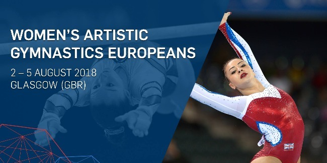 Women's artistic gymnasts complete their performances at the European Championships
