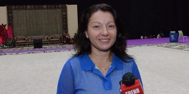 Мариана Василева: Огромное спасибо президенту Федерации гимнастики Азербайджана Мехрибан Алиевой за поддержку и все созданные условия
