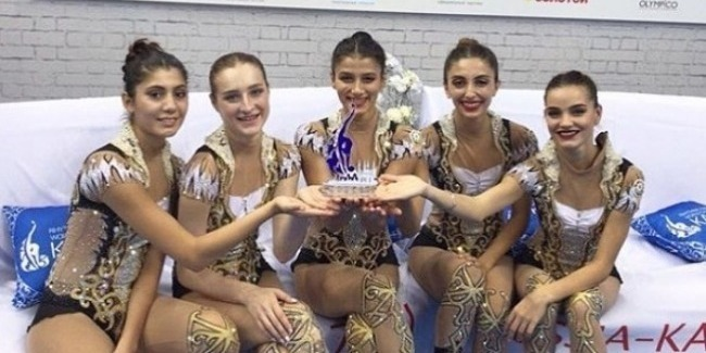 Azerbaijani team in group exercises becomes a winner of the FIG World Challenge Cup series
