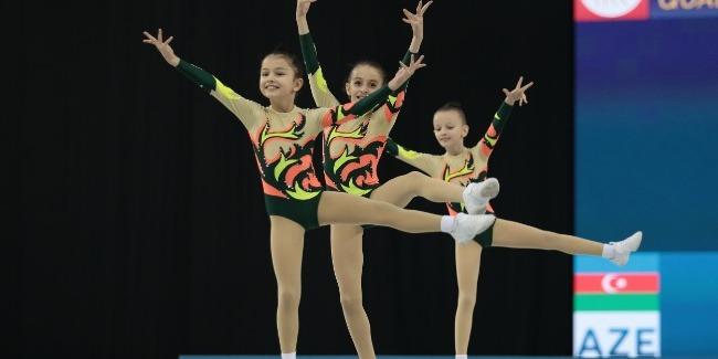 Завершился открытый чемпионат Азербайджана и первенство Баку по аэробной гимнастике.