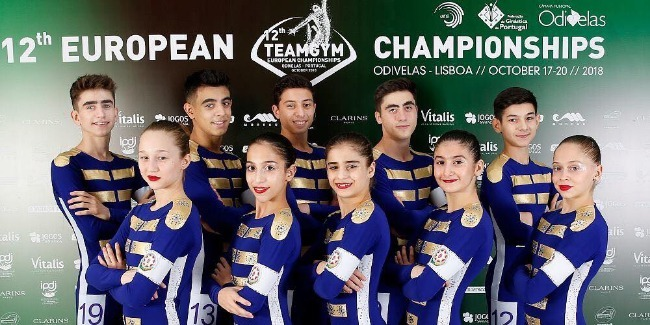 """Azerbaijan is represented at """"TeamGym"""" European Championships for the first time"""