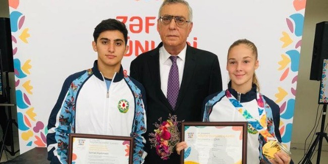 """Our gymnasts participate in the """"Victory Day"""" event"""