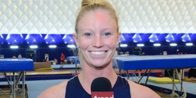 Национальная арена гимнастики в Баку – потрясающая - американская спортсменка