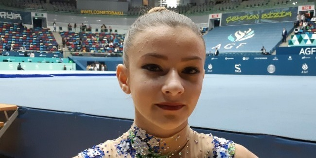 Ukraynalı gimnast: Azarkeşlər mənə güc və əminlik verdi