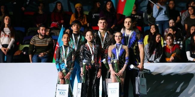 Abdullah Al-Mashaykhi and Ruhidil Gurbanli won silver medals at the Acrobatic Gymnastics World Cup