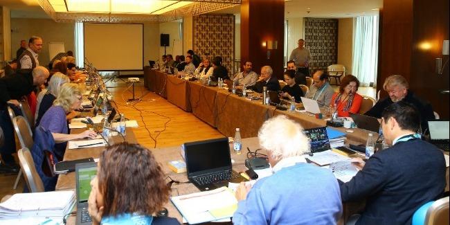 The delegates of the International Gymnastics Federation assemble in Baku