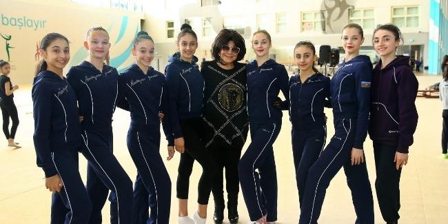Flora Kərimova Milli Gimnastika Arenasında qonaq olub