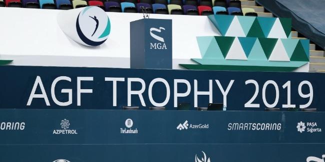 В Национальной арене гимнастики в Баку проходит контрольная тренировка Кубка мира по прыжкам на батуте и тамблингу