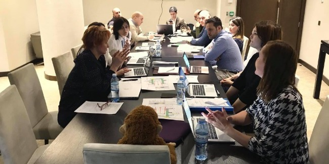The UEG delegates have meetings in Baku