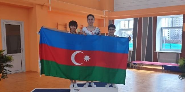 Gənc batutçularımız Belarusda medal qazandılar
