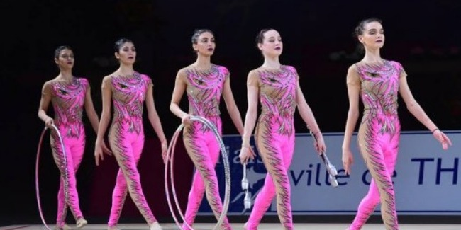 Azerbaijani team in group exercises wins the Silver medal of the Grand Prix events