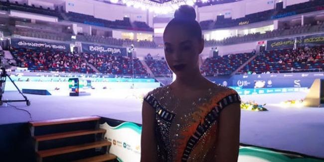Арена гимнастики в Баку очень большая, она мне напоминает театр – итальянская гимнастка