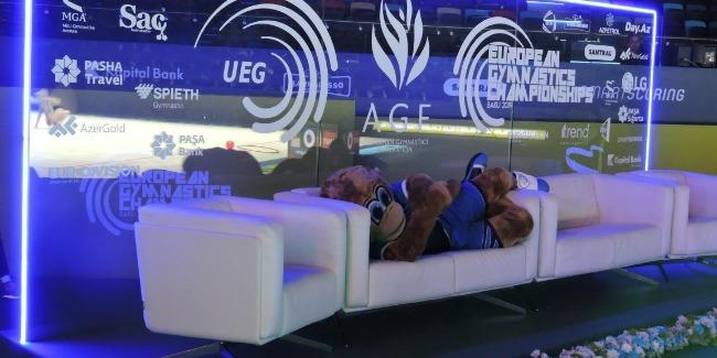 Bədii gimnastika üzrə Avropa Çempionatının ikinci günü fotolarda