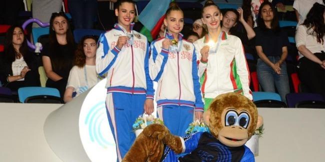 Bədii gimnastika üzrə Avropa Çempionatının fərdi proqramda qaliblərinin mükafatlandırma mərasimi baş tutdu