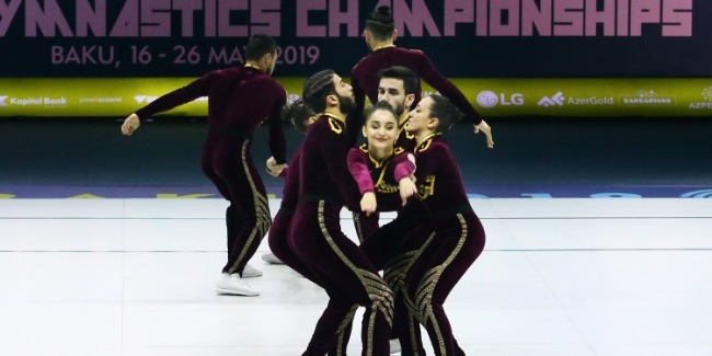 Aerobika Gimnastikası üzrə Avropa Çempionatının 2-ci günü fotolarda