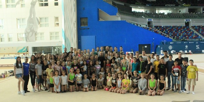Professionals of their job works at Azerbaijan Gymnastics Federation - Miri Yusif