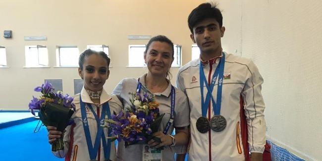 Azerbaijani acrobats are the first to bring medal to our team`s medal box