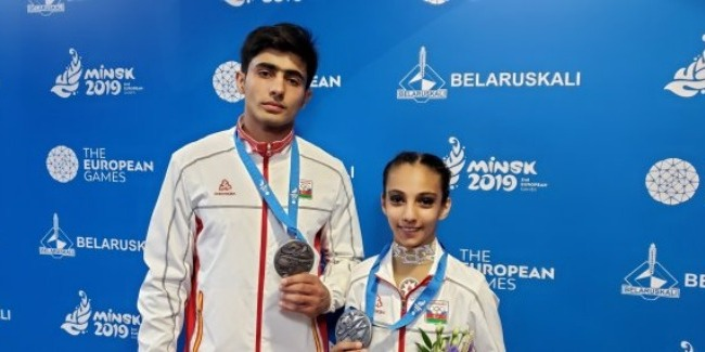 Another Silver medal from Azerbaijani acrobats