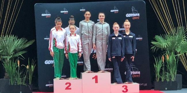 Azerbaijani Rhythmic gymnasts win 10 medals in the International Tournament