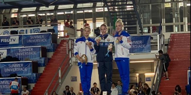 Marina Nekrasova Universiadada qızıl medal qazandı