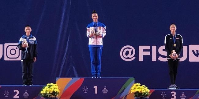 Zohra wins the Silver medal at Universiade
