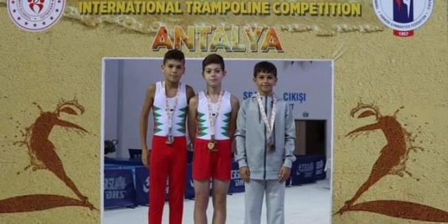 The Azerbaijani representative in Trampoline Gymnastics ranks 3rd in the International Tournament