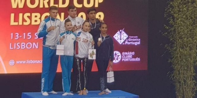 Azerbaijani Mixed Pair - Ruhidil & Abdulla - win the Silver medal at the World Cup