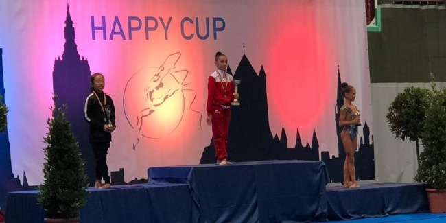 The Azerbaijani Rhythmic gymnasts come back with the Gold medals from Belgium