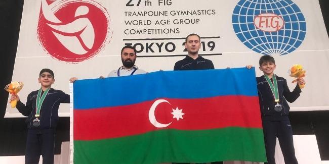 Batutçularımız gimnastika tariximizdə ilk dəfə olaraq dünya ikincisi oldular