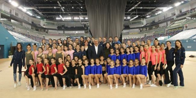 Gənclər və İdman Naziri Milli Gimnastika Arenasında qonaq olub