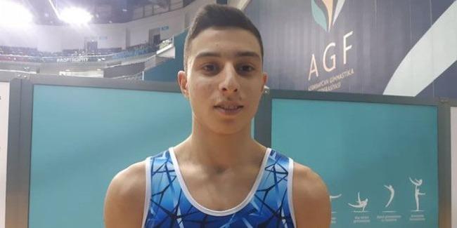 Турнир AGF Junior Trophy - подготовка к Чемпионату Европы по мужской спортивной гимнастике – азербайджанский спортсмен