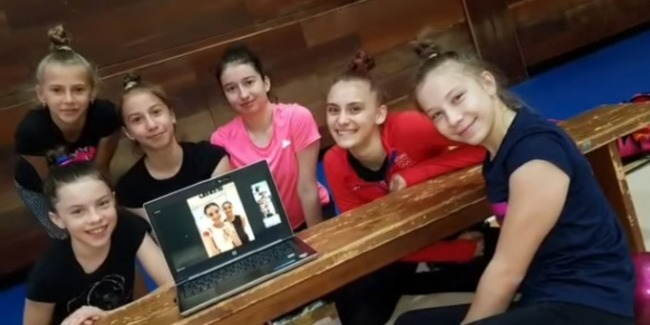 Master classes by rhythmic gymnasts for foreign athletes in quarantine period