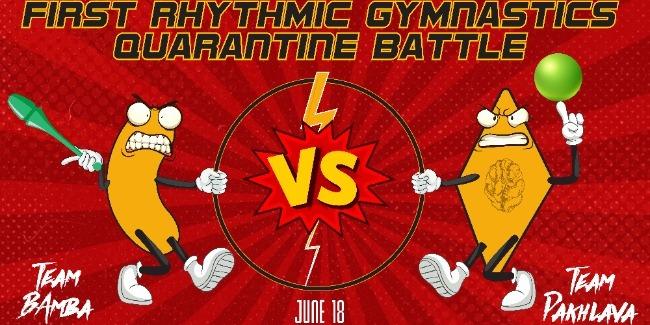 The first quarantine battle of rhythmic gymnasts