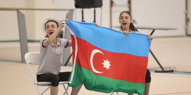 Gymnastics match between Azerbaijan and Israel takes place