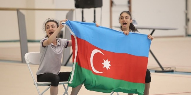 Gymnastics match between Azerbaijan and Israel takes place